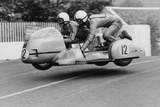 Sidecar TT Race, Isle of Man, 1970 Reproduction photographique