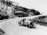 T Pilette in a Mercedes 4.5 Litre at the French Grand Prix, Lyons, 1914 Fotografisk trykk