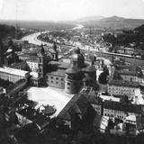 View of Salzburg from the Hohensalzburg Fortress, Salzburg, Austria, C1900 Reproduction photographique par  Wurthle & Sons