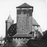 The Quintagonal Tower (Funfeckiger Thur), Kaiserstallung, Nuremberg, Germany, C1900s Reproduction photographique par  Wurthle & Sons