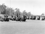 A Police Patrol with their Harley-Davidsons, America Photographic Print