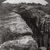 Canadians Leaving their Trenches to Rush a German Position, World War I, 1914-1918 Stampa fotografica