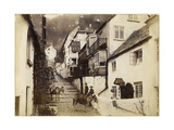 The New Inn and Street, Clovelly, Devon, Late 19th or Early 20th Century Giclée-tryk