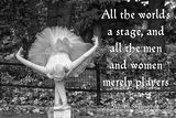 Ballerina Street Performer in Central Park, NYC with William Shakespeare Quote Photographie