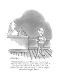 """"""" 'What I Did This Summer.' This summer, I went to camp. I hated it. I hat…"""" - New Yorker Cartoon Premium Giclee Print by Henry Martin"""