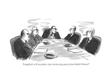 """""""Langsford, will you please stop interjecting quotes from Kahlil Gibran"""" - New Yorker Cartoon Premium Giclee Print by Warren Miller"""