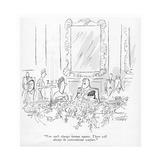 """You can't change human nature. There will always be conventional warfare. - New Yorker Cartoon Impressão giclée premium por Mischa Richter"
