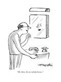 """""""Hi, there, the me nobody knows."""" - New Yorker Cartoon Premium Giclee Print by Henry Martin"""