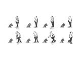 """Speak.""""Roll over.""""Heel.""""Stay."" - New Yorker Cartoon Premium Giclee Print by Robert Weber"