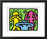 Pop Shop (See No Evil, Hear No Evil, Speak No Evil) Framed Giclee Print by Keith Haring