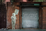 """Albert Einstein """"Love Is the Answer"""" NYC Wall Scene with Quote Photographie"""