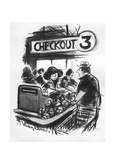 New Yorker Cartoon Reproduction giclée Premium par Jr., Whitney Darrow