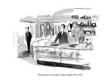 """Sometimes I wonder what makes him tick."" - New Yorker Cartoon Premium Giclee Print by Frank Modell"
