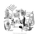 """You're not getting enough proteins."" - New Yorker Cartoon Impressão giclée premium por Mischa Richter"
