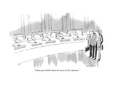 """I have grave doubts about the success of this conference."" - New Yorker Cartoon Impressão giclée premium por Mischa Richter"