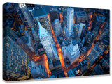 Aerial View of Wall Street Custom Stretched Canvas Print by Cameron Davidson