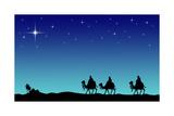 Three Wisemans and the Star of Bethlehem Lámina giclée por  IndianSummer