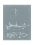 Yacht Sketches III Premium Giclee Print by Ethan Harper
