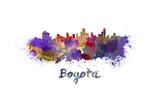 Bogota Skyline in Watercolor Prints by  paulrommer
