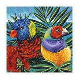 Birds in Paradise II Affischer av Carolee Vitaletti