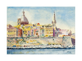 A Watercolor Painting of Valletta, Malta Prints by  clivewa