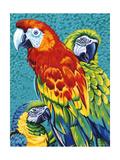 Birds in Paradise III Poster di Carolee Vitaletti