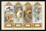 The Four Seasons Print by Alphonse Mucha