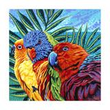 Birds in Paradise I Poster di Carolee Vitaletti