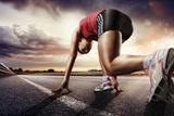 Sport. Runner. Fotografisk tryk af  vitaliy_melnik