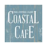 Coastal Cafe Square Poster von Elizabeth Medley