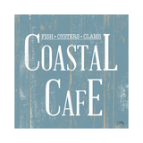 Coastal Cafe Square Prints by Elizabeth Medley