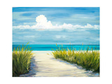 Beach Scene I Reproduction giclée Premium par Julie DeRice
