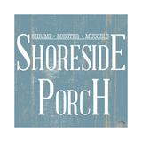 Shoreside Porch Square Kunstdrucke von Elizabeth Medley