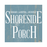 Shoreside Porch Square Poster by Elizabeth Medley