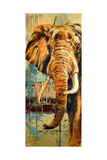 New Safari on Teal II Premium gicléedruk van Patricia Pinto