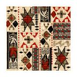 Southwest Textile I Giclée-Premiumdruck von Nicholas Biscardi