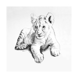 Lion Premium Giclee Print by Vivien Rhyan