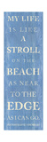 Stroll on the Beach Premium Giclee Print