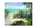Sun Beach Dunes Premium Giclee Print by Jane Slivka