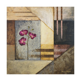 Orchids and Shapes II Premium Giclee Print by Michael Marcon