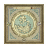 North and South Maps I Premium Giclee-trykk av Elizabeth Medley