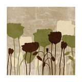 Floral Simplicity II (Green) Premium Giclée-tryk af Patricia Pinto