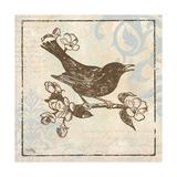 Bird Woodcut I Reproduction giclée Premium par Elizabeth Medley