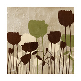 Floral Simplicity I (Green) Premium Giclee-trykk av Patricia Pinto