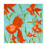 School of Fish I Reproduction giclée Premium par Gina Ritter