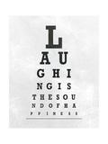 Eye Chart Typography II Giclée-Premiumdruck