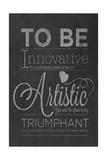 To Be Innovative Giclée-Premiumdruck