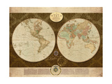 Map of World Premium Giclee Print by Elizabeth Medley