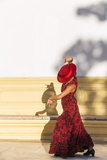 Spain, Andalusia, Seville. Flamenco Dancer Performing Outdoors Fotoprint av Matteo Colombo