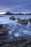 The Black Cuillin Mountains from the Rocky Shores of Elgol, Isle of Skye, Scotland Reproduction photographique par Adam Burton